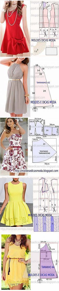 5 more simple patterns of women's dresses | mistress