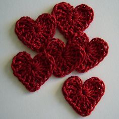 Ravelry: Mini crocheted hearts pattern by Morgan Joyce