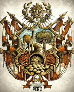 Inka Tattoo, Peru Tattoo, Peruvian Art, Dark Art Tattoo, Inca Empire, We Bare Bears, Tumi, Middle Ages, Easy Drawings