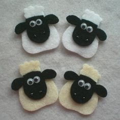 This is a small set of 4 sheep appliques which is provided for those of you who don't want to buy in bulk. Description from etsy.com. I searched for this on bing.com/images
