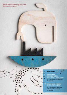 Speelgoedblokken crêche Café aan blad plakken met tessa. Kleurkopie van maken en dan typo erbij
