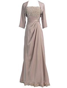 Topwedding Women's Appliqued Chiffon Mother of the Bride Dress with Jacket,Champagne,8 Topwedding http://www.amazon.co.uk/dp/B00UVHEZGC/ref=cm_sw_r_pi_dp_I1cjvb0NX0CZA
