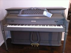 Painted Piano  ASCP 3/4 French Linen & 1/4 Graphite, clear and dark wax.  Facebook.com/ReLoveDesigns