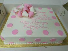 Easy Baby Shower Sheet Cakes | Baby Shower Sheet Cake Girl | Cake  Decorating | Pinterest