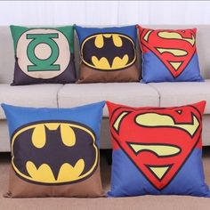 Super Hero Pillow Covers Great For the Super Hero in Your Life by JDDesigns1Shop on Etsy https://www.etsy.com/listing/269568869/super-hero-pillow-covers-great-for-the