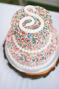 #Colorful #Sprinkles #Wedding Cake #foodblogger #food #blogger #cake #cakedesign #idea #cucina www.isaitaly.com