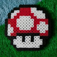 Pixelated Mushroom Magnet | to make on a rainy day