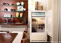 now where to get an old fridge...