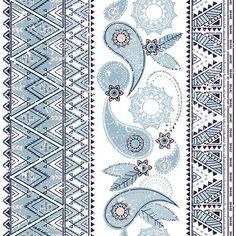 Ornament; pattern; print; boho; bohemian; paisley; ethnic; indian; textile…
