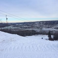 View from the top of the hill today. Need some more snow, runs are a little sparse. #snowboarding #familytime #getoutdoors #northernalberta #rivervalley #mightypeace