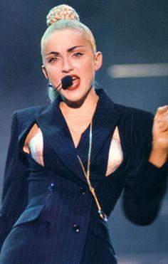 "Madonna  ""Blond Ambition Tour"" 1990. Dressed in Jean Paul Gaultier. Zippertravel"