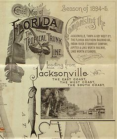 old brochure for train from Jax, 1894