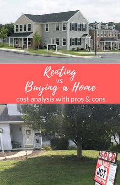 The truth behind whether it's better to rent vs buy a home. Here's my real cost analysis of renting vs owning a home, hope it helps you! #home #buyingahome #renting #buyvsrent