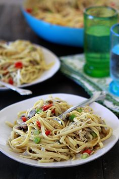 Chicken Tetrazzini, Chicken and Pasta Baked dish