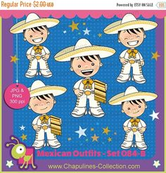 Mexico Clipart white and gold by ChapulinesCollection