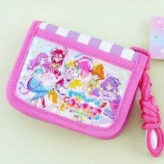 Tropical-Rouge! Pretty Cure Striped Bi-Fold Wallet - Blippo Kawaii Shop Kawaii Accessories, Rement, Toy 2, Kawaii Shop, Pretty Cure, Bubblegum Pink, Purse Wallet, Rogue Series, Playroom