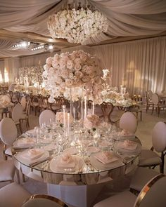elegant pink and gold wedding reception with tall centerpiece wedding centerpieces 15 Elegant Wedding Reception Ideas to Love - EmmaLovesWeddings Wedding Hall Decorations, Wedding Table Centerpieces, Tall Centerpiece, Centerpiece Ideas, Silk Flower Centerpieces, Quince Decorations, Quinceanera Centerpieces, Unique Centerpieces, Table Decorations