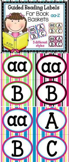 Labels for Guided Reading Bins!  Alma Almazan