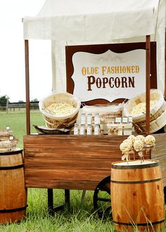 Olde Fashioned Rustic Popcorn Bar // Hostess with the Mostess®