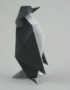 Origami Penguin by Stephen Weiss folded by Gilad Aharoni on www.giladorigami.com