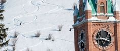 Snowboarding down a mountain and into campus at University of Montana. #OnlyInMissoula
