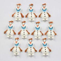 Lot 10 pcs Frozen Snow the Snowman OLAF Resin Flatback Girl Hair Bow Crafts DIY