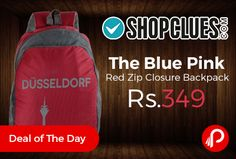 Shopclues #DealofTheDay is offering 84% off on The #Blue #Pink #Red Zip Closure #Backpack Just at Rs.349. 2 compartment bag, Ideal as a college and school bag Backpack, Casual backpack & Casual Daypack. Made of Good quality fabric with good quality stitch and stress points reinforced with heavy stitches.   http://www.paisebachaoindia.com/the-blue-pink-red-zip-closure-backpack-just-at-rs-349-shopclues/