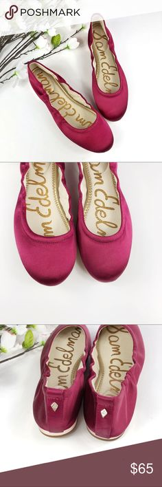 New! SAM EDELMAN Farrow Satin Ballet Flats Style description: New! SAM EDELMAN Farrow Satin Ballet Flats, gold heel. Maroon/ Wine color.   Size: 7.5M  Condition: Brand new without box Sam Edelman Shoes Flats & Loafers