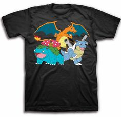 Wish | POKEMON Monsters Black Tee (U.S. Sized) Officially Licensed, pikachu, Licensed Tee