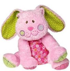 "Mary Meyer Baby Cheery Cheeks 12"" Buffy Bunny Pink Plush Easter Rabbit Toy 