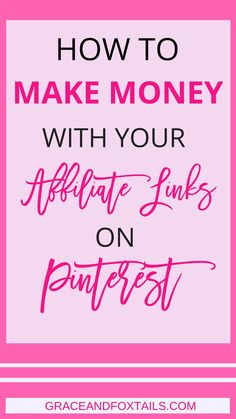 Any chance you wanna make money with your affiliate links on Pinterest? I thought so! Find our how you can make money with affiliate marketing on Pinterest. Learn all about affiliate marketing on Pinterest for beginners.