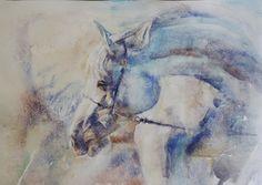 © Svitlana Danovych 2013  White horse 290 x 410 mm   Watercolor 2013