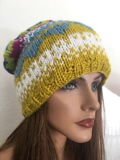 A personal favorite from my Etsy shop https://www.etsy.com/listing/508272611/hand-knits-2-love-beanie-slouch-hat-cap