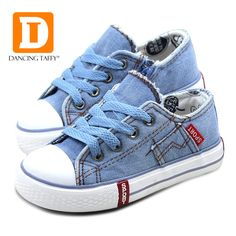 Awesome Denim Jeans Boys Sneakers Kids Shoes Girls New 2017 Brand Autumn Fashion Zip Canvas Breathable Casual Rubber Sole Children Shoes - $ - Buy it Now!