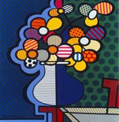 "Romero Britto ""Flowers"" Print - Framed"