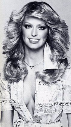 1960s Farrah Fawcett... Fabulous make-up and hair by Way Bandy