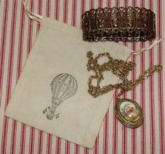 Jewelry bag party favor bags tea dyed unbleached by greenwillow, $4.00