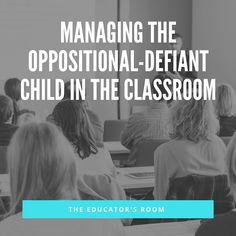 Some of the most challenging students I've had to teach have been those with Oppositional-Defiant Disorder. These are the students who challenge the behavioral norms in the classroom, often show low academic achievement, and lack motivation. Thankfully, there is plenty of research behind teaching these tough nuts to crackand lots of resources out there