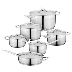 Hrnce sada Hotel Line 12-dílná Cast Iron Pot, Cast Iron Cookware, Cookware Set, Stainless Steel Types, Quality Kitchens, Satin Finish, Energy Efficiency, Kitchen Decor, Essentials