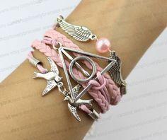 Bird lovers the harry potter pink beads snitch by lovelybracelet, $5.99