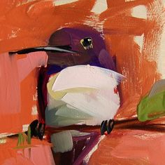 "Daily+Paintworks+-+""Hummingbird+no.+117+Painting""+-+Original+Fine+Art+for+Sale+-+©+Angela+Moulton"