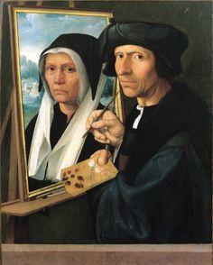 2. Dirck Jacobsz, Jacob Cornelisz van Oostsanen schildert zijn vrouw Anna, ca. 1530 62 x 49,4 cm, bruikleen Toledo Museum of Art (Ohio, USA) te zien in Stedelijk Museum Alkmaar