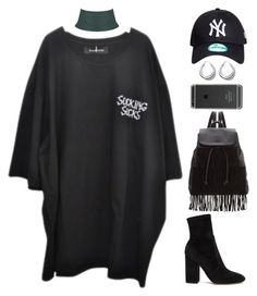 """suck it"" by mikaylaperrine ❤ liked on Polyvore featuring Valentino, All Blues and Glamorous"