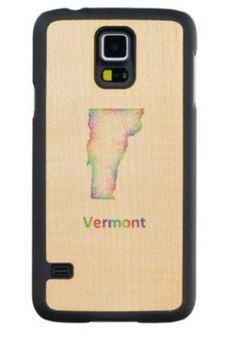Rainbow Vermont map Maple Galaxy S5 Slim Case $49.65