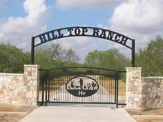 Torchcraft manufactures high quality custom ranch entrance gate signs that can be seen throughout the United States. Driveway Entrance, Entrance Sign, Entrance Ways, Front Gates, Entry Gates, Farm Gate, Custom Gates, Grades, Farm Signs