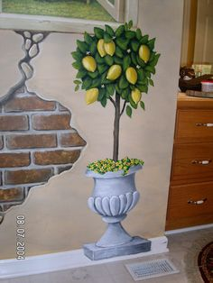 """Bathroom mural - I like the fake peeled paint with the """"bricks"""" showing through... http://www.bathroom-paint.net/bathroom-paint-alternatives.php"""