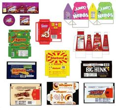 Miniature Printables - Assorted Candies - (V)