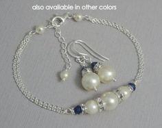 Ivory Pearl Bridesmaid Bracelet Set Bridesmaid Jewelry