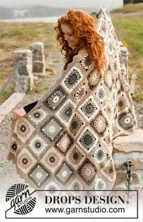 "Crochet DROPS blanket in ""Lima"". ~ DROPS Design"