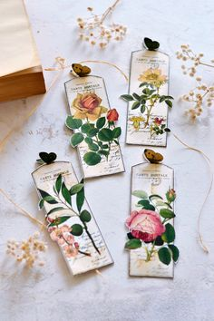 Learn how to make DIY Butterfly Bookmarks in just a few easy steps! Use coffee to stain the bookmarks and give them a beautiful and subtle vintage look! Vintage Bookmarks, Bookmarks For Books, Creative Bookmarks, Cute Bookmarks, Bookmark Craft, Handmade Bookmarks, Corner Bookmarks, Bookmark Making, Bookmark Ideas